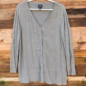 Eileen Fisher | Tunic Button Down Blouse size M